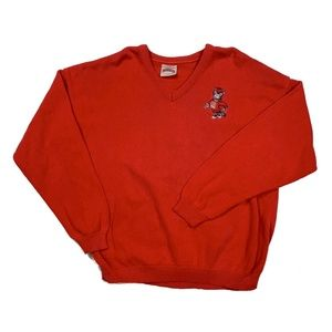 Vintage NC State Wolfpack Red Knit Sweater XL